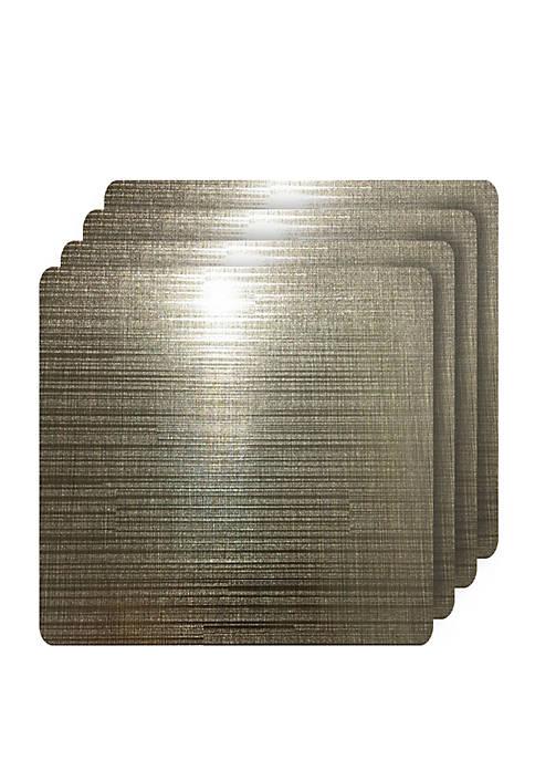 Emery Metallic Reversible Square Set of 4 Placemats