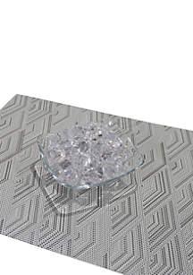Dainty Home Diamonds Woven Textilene Reversible Set of 6 Placemats
