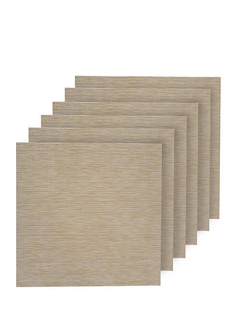 Dainty Home Natural Shimmer Woven Textilene Square Set