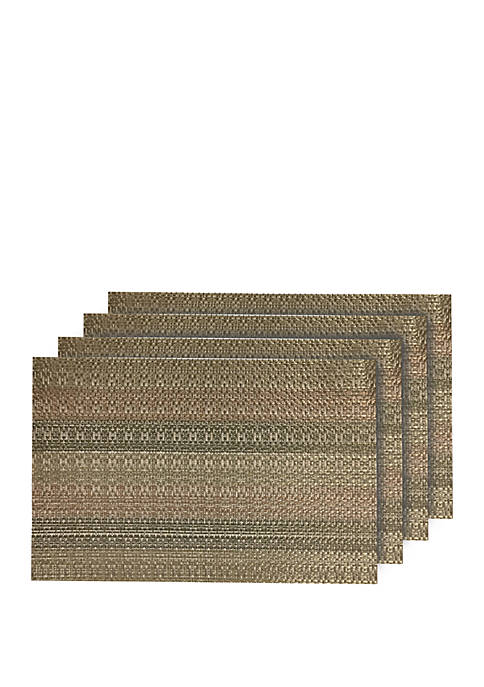 Dainty Home Yorkshire Woven Textilene Placemats- Set of