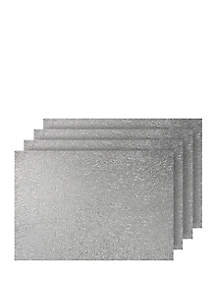 Dainty Home Lacey Metallic Rectangle Set of 4 Placemats