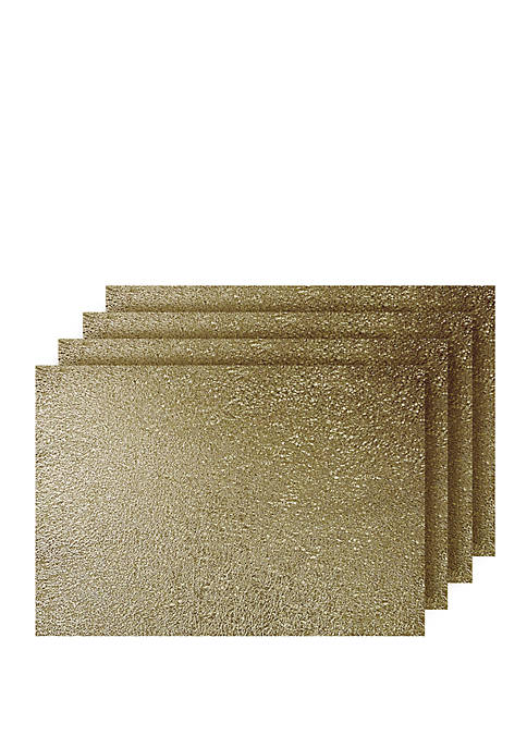 Dainty Home Lacey Metallic Rectangle Set of 4