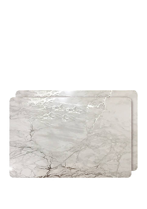 Dainty Home Marble Cork Foil Design Rectangle Set