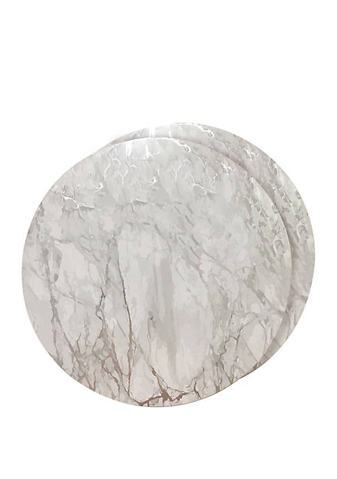Dainty Home Marble Cork Foil Design Round Set