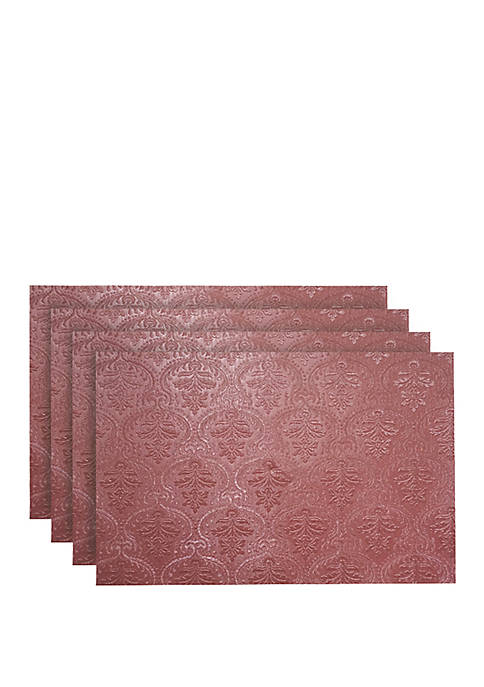 Venecia Faux Leather with Suede Backing Placemats-Set of 4