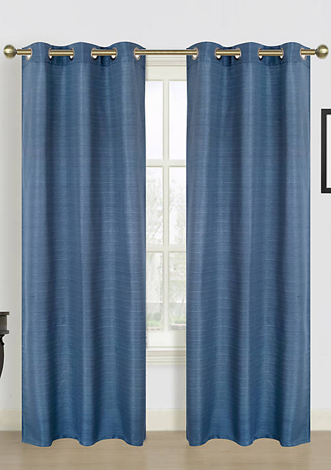 Dainty Home Blended Silk Window Panel Pair 76-in.