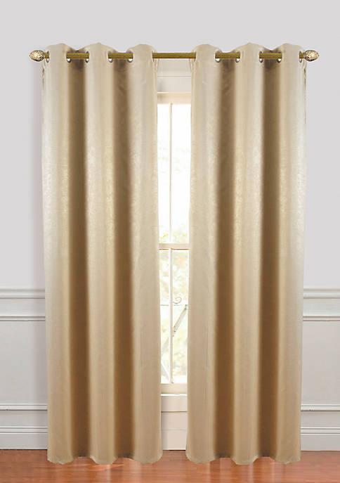 Dainty Home Suede Room Darkening Grommet Window Curtain