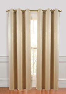 Suede Room Darkening Grommet Window Curtain Panel Pair