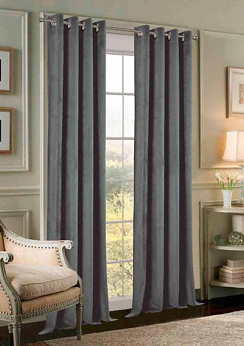 Dainty Home Velvet Grommet Extra Wide Panel Pair