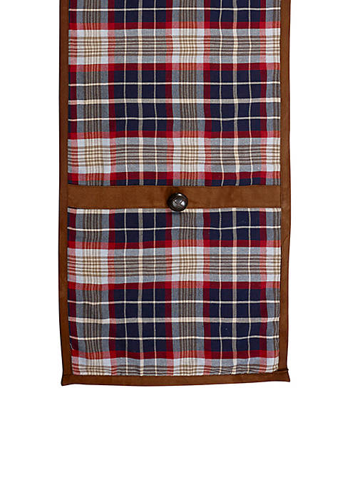 HiEnd Accents South Haven Blue Plaid Runner