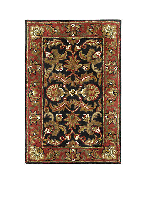 Ancient Treasures Black Rug 2 x 3