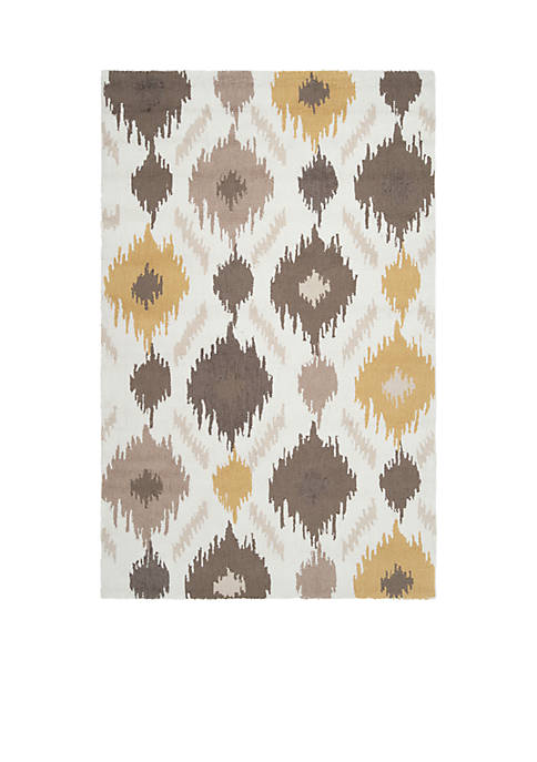 SURYA Brentwood Gold Area Rug 4 Round
