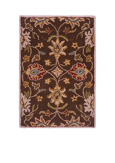 SURYA Caesar CAE-1051 Dark Brown Area Rug 2-ft.
