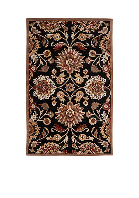 SURYA Caesar CAE-1053 Black Area Rug 2-ft. x