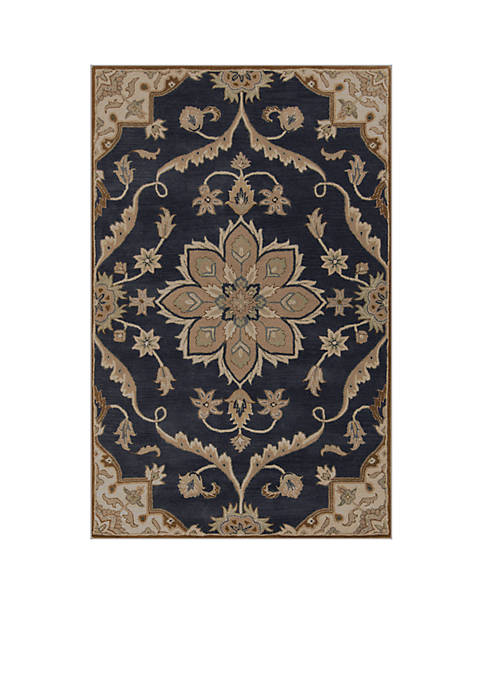 SURYA Caesar CAE-1113 Navy Area Rug 2-ft. x