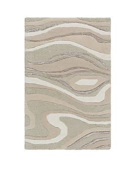 Modern Classics Light Gray Area Rug 2 x 3
