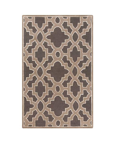 SURYA Modern Classics Charcoal Area Rug 2 x
