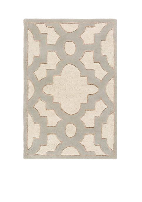 SURYA Modern Classics Ivory Area Rug 2 x