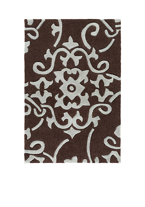 "SURYA Cosmopolitan Light Gray Area Rug 36"" x"