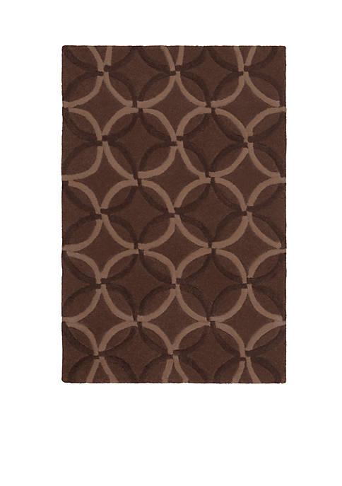 Cosmopolitan Chocolate Area Rug 2 x 3
