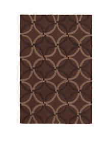 Cosmopolitan Chocolate Area Rug 2' x 3'
