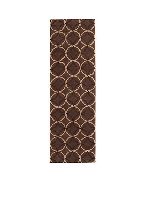 "Cosmopolitan Chocolate Area Rug  26"" x 8"