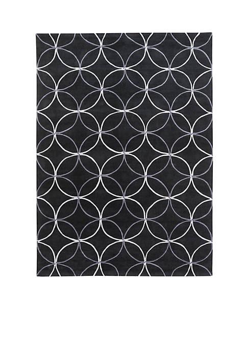 SURYA Cosmopolitan Black Area Rug 2 x 3