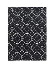 Cosmopolitan Black Area Rug 2' x 3'