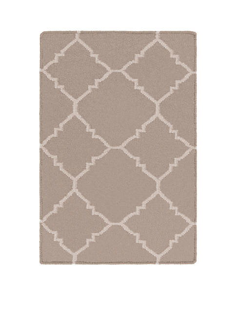 SURYA Frontier Taupe Area Rug 2 x 3