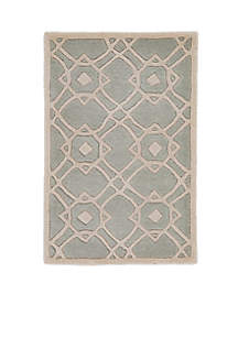 Goa Light Gray Area Rug 2' x 3'
