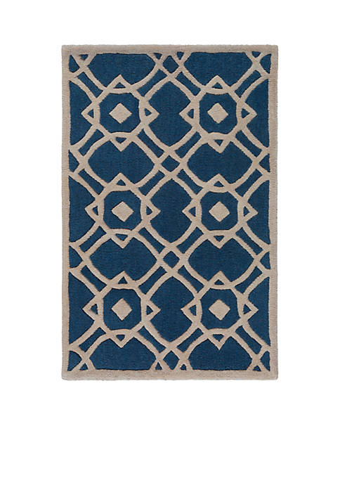 SURYA Goa Navy Area Rug 2 x 3