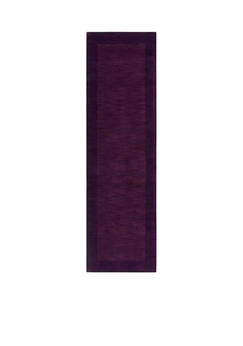 Mystique M-349 Purple Area Rug 2-ft 6-in. x 8-ft. Runner