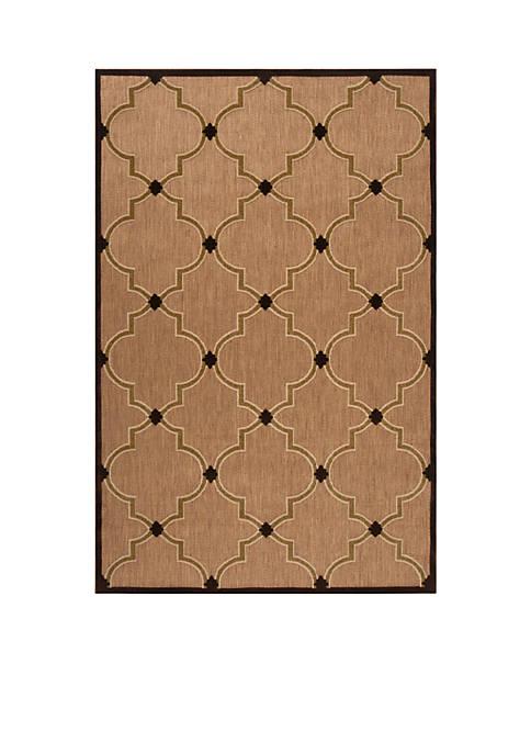 Portera Chocolate Area Rug
