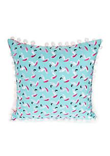 Crewel Pelican Decorative Pillow