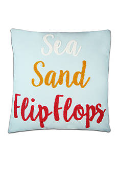 Elise & James Home™ Sea Sand And Flip Flops Decorative Pillow