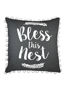 Elise & James Home™ Bless This Nest Decorative Pillow