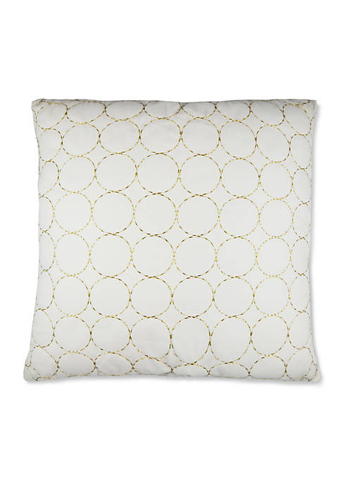 Elise & James Home™ Golden Circles Decorative Pillow