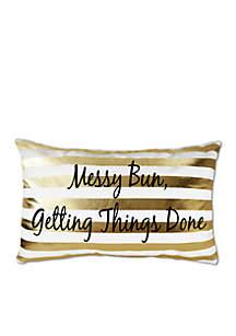 Messy Bun Decorative Pillow