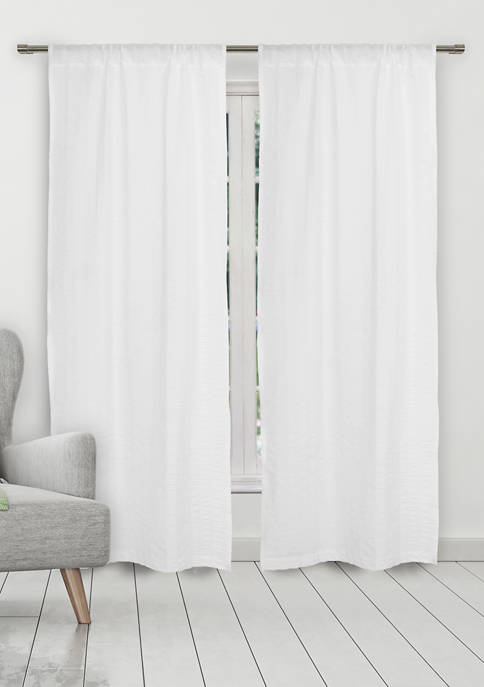 Kensie Aaliyah Solid Window Curtain Set