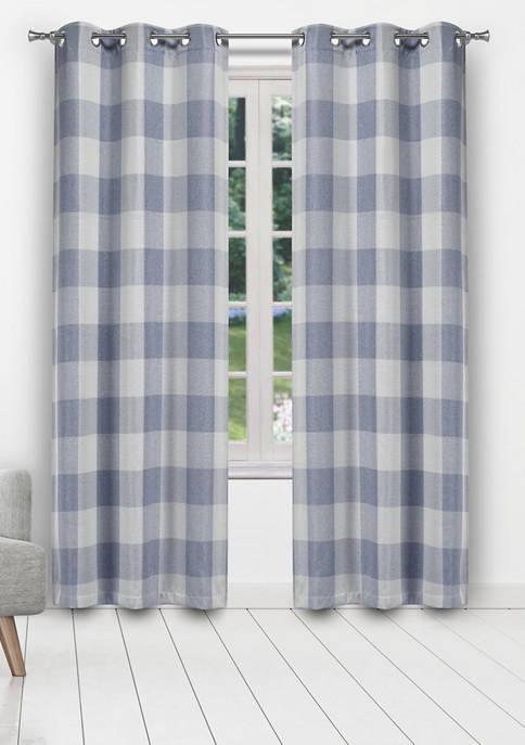 Blackout 365 Aaron Buffalo Check Window Curtain Set