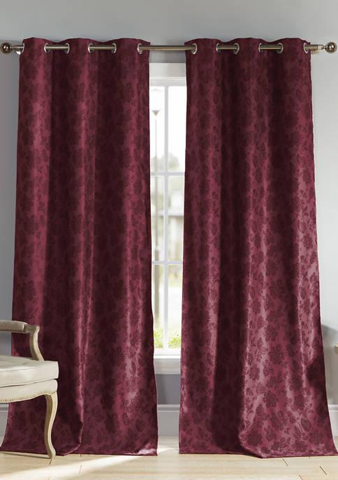Aeryn Floral Blackout Curtain Set