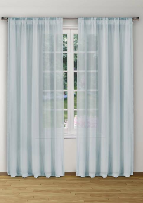 Kensie Alison Solid Window Curtain Set