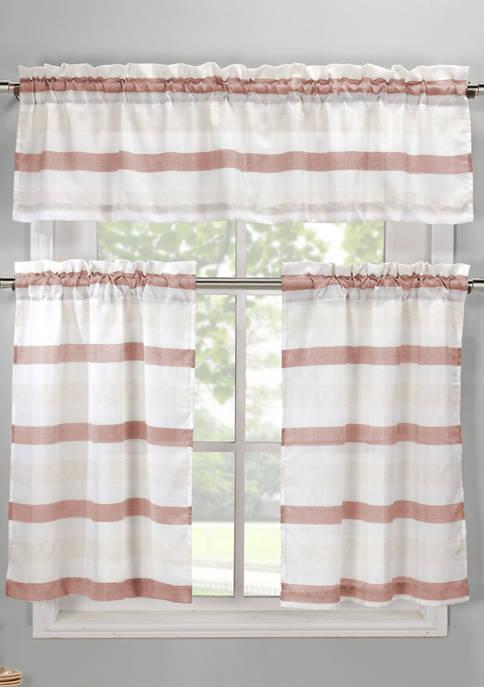 Akua Stripe Kitchen Curtain and Tier Set