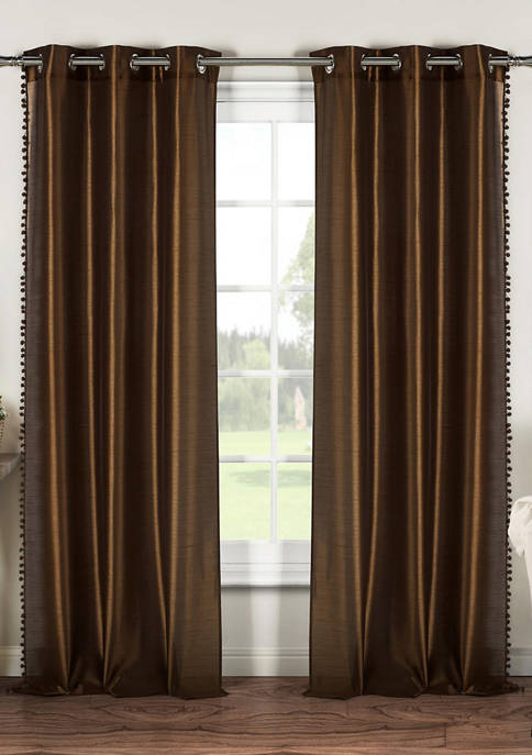 Duck River Textile Bali Solid Window Curtain Set