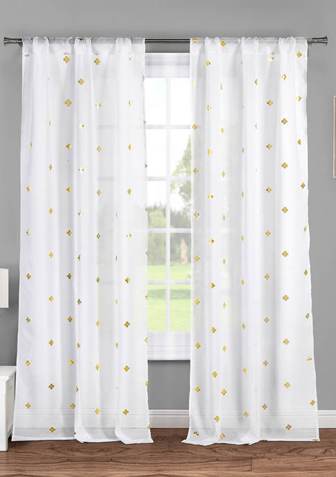 Lala + Bash Becca Printed Window Curtain Set
