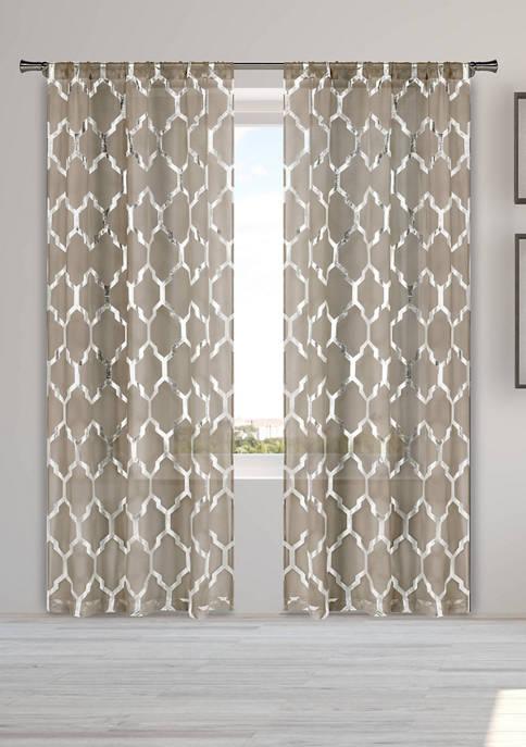 Home Maison Bena Geometric Window Curtain Set