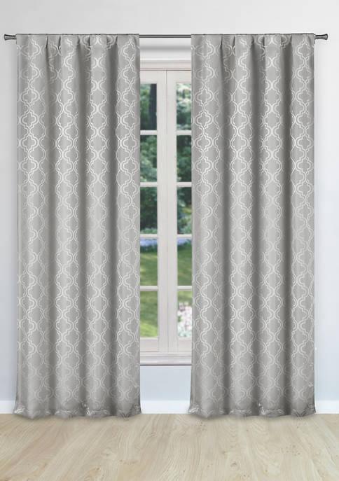 Kelvin Bryn Geometric Window Curtain Set