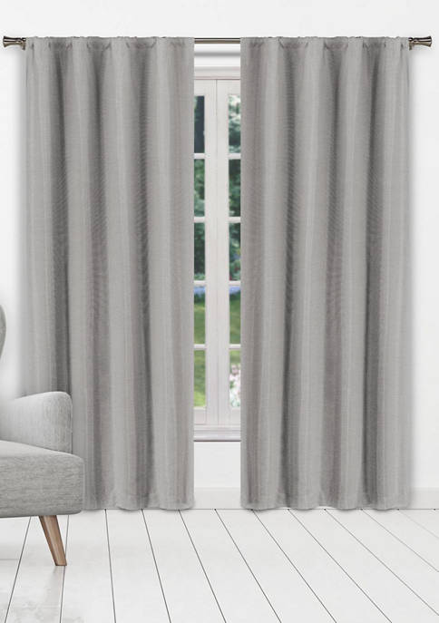 Beya Solid Textured Window Curtain Set