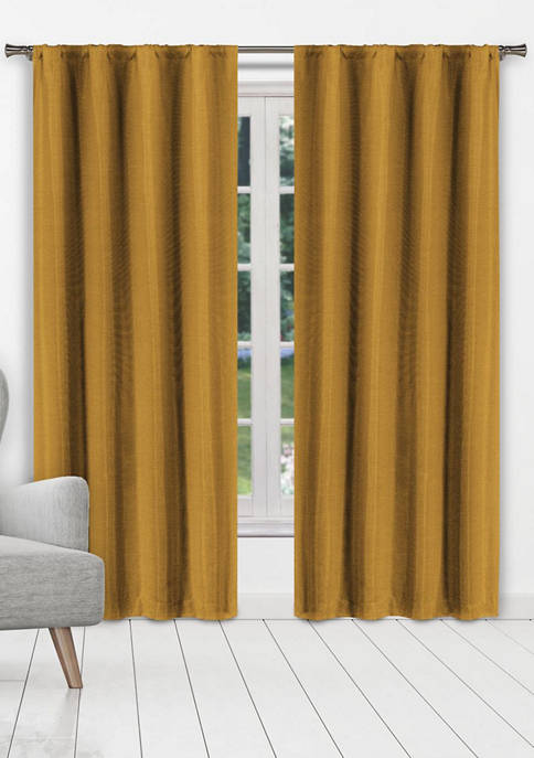 Kelvin Beya Solid Textured Window Curtain Set