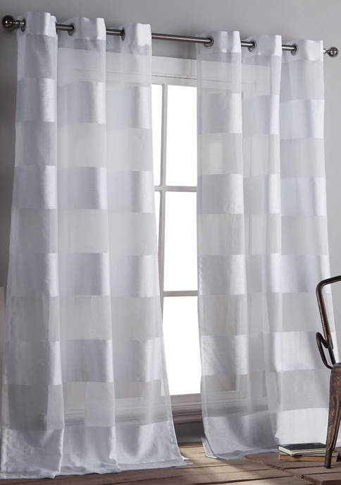 Home Maison 2 Inch Stripes Capri Window Curtain